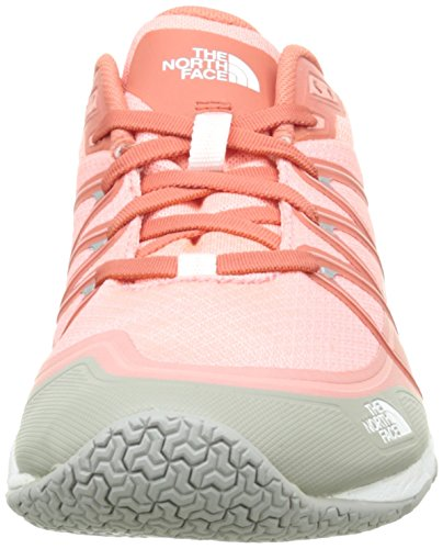The North Face Damen W Litewave ampere Hallenschuhe, Blau Orange (Neon Peach / Tropical Coral)