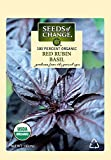 Seeds of Change 04448 Certified Organic Basil, Red Rubin