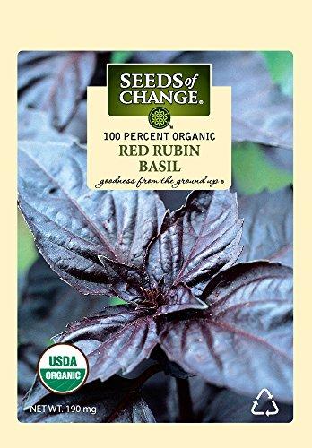 23 Certified Organic Red Rubin Basil ()