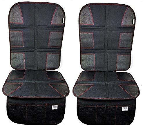 Car Seat Protector (2-Pack) By Luliey Car Back Seat Cover Pad for Child and Baby Car Seats and Dog Mats - Protects Automotive Vehicle Cloth Upholstery or Leather Seats from Dust and Dirty Shoes
