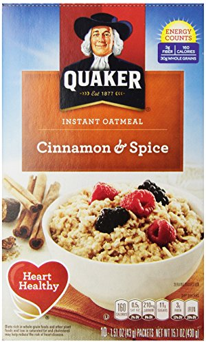 Quaker Instant Oatmeal, Cinnamon and Spice, 10 ct Alexander Valley
