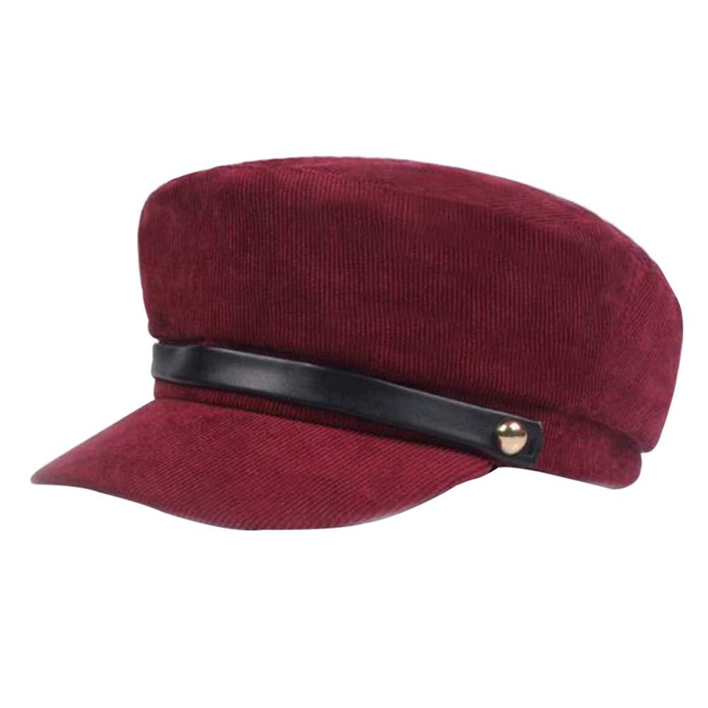 XIYAO Chapeaux en Velours c/ôtel/é Chapeaux Traditionnels Casquette Gavroche pour Femmes Casquettes Octogonales Filles Femmes