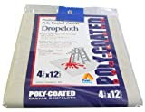 Paint Essentials 4-Feet x 12-Feet Polycoated Drop Cloth CDC412