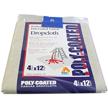 Paint Essentials 4-Feet x 12-Feet Polycoated Drop Cloth CDC412