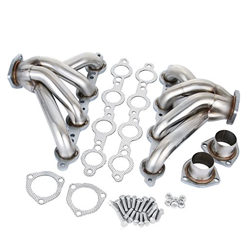 - Mophorn Exhaust Header Stainless Steel Manifold Exhaust Block Hugger Headers Fit for Chevy LS1 LS6 Block Hugger (Exhaust Block Hugger Headers for Chevy LS1 LS6)