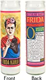 Frida Kahlo Secular Saint Candle - 8.5 Inch Glass Prayer Votive - Made in the USA by The Unemployed Philosophers Guild