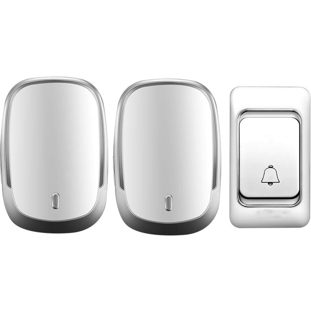 White Wc-kYT Adjustable Volume Doorbell Wireless Communication Remote Control for The Elderly Or Legs and Feet is Not Convenient (color   White)