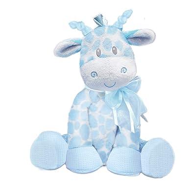 "First & Main 8.5"" Blue Jingles Giraffe : Plush Animal Toys : Baby"