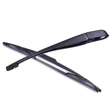 Rayinblue Peugeot 206 207 brazo del limpiaparabrisas trasero y cuchilla: Amazon.es: Coche y moto
