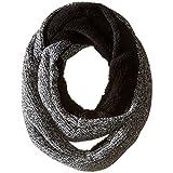 Calvin Klein Women's Shaker Stitch Infinity Scarf, Black, One Size