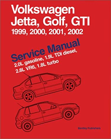 volkswagen jetta golf gti service manual 1999 2002 2 0l gasoline rh amazon com Owner Manual 2000 Volkswagon Jetta S 1999 Jetta Repair Manual