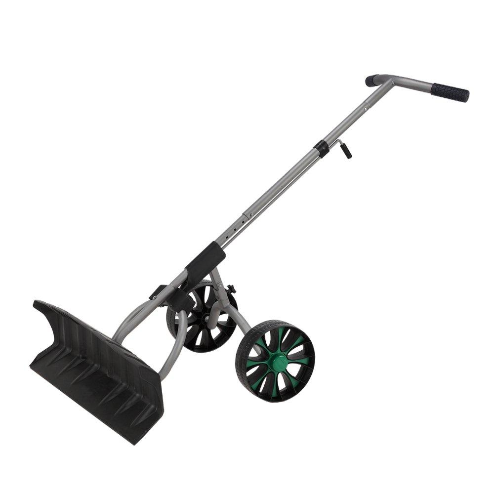 North Gear Heavy Duty Wheeled Dual Grip Snow Pusher / Snowplow by North Gear