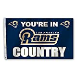 NFL Los Angeles Rams Team Country Flag with Grommets, 3' x 5', Navy