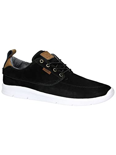 0f724b01cb Image Unavailable. Image not available for. Color  Vans Brigata Lite Mens  Size 9.5 Womens 11 S L Black White Suede Skateboarding Shoes