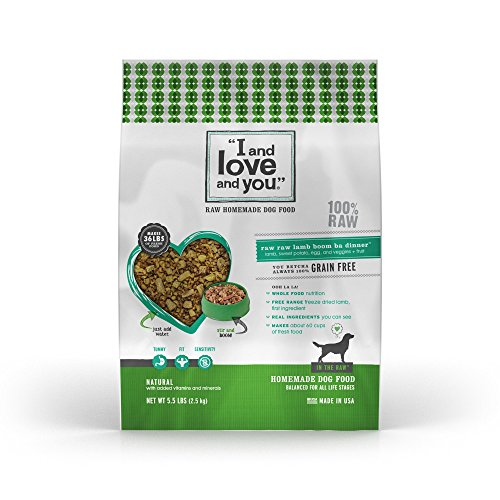 """I and love and you"""" In the Raw 'Raw Raw Lamb Boom Ba' Homemade Freeze Dried, Grain Free Dehydrated Dog Food, 5.5 LB"""