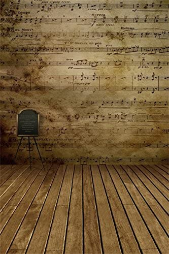AOFOTO 4x6ft Acoustic Guitar Leaning On Chair Backdrop Patriotic American Flag Photography Background Country Music Folk West Rustic Vintage Wooden Wall Photo Studio Props No Wrinkle Polyester