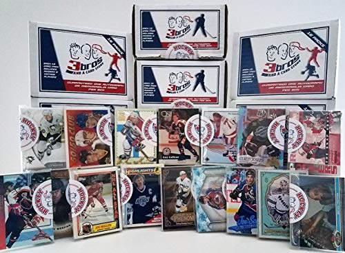 16 pack Sealed box of Hockey Cards with 15 different Modern & Vintage cards from all brands in each pack. Guaranteed one AUTOGRAPH or MEMORABILIA card per box! Great for 1st time collectors. By 3bros