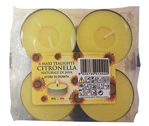 Prices Lot DE 4 Grandes Bougies Chauffe-Plat à la citronnelle–15 Heures VDTAZ012B