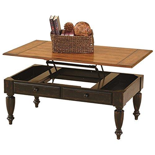 Cheap Progressive Furniture 44542-15 Country Vista Lift Top Cocktail Table, Antique Black and Oak