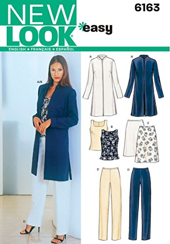 (New Look Sewing Pattern 6163 Misses Separates, Size A (8-10-12-14-16-18))