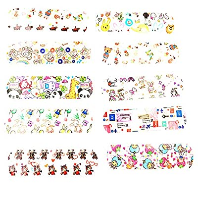 Urmydear Kids Bandaids -Toys for Children Pretend Doctor Nurse 100 Count Cute Cartoon Brilliant Bandages: Toys & Games