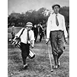 Quality digital print of a vintage photograph - Francis Ouimet at the US Open, 1913.Black & White 8x10 inches - Luster Finish