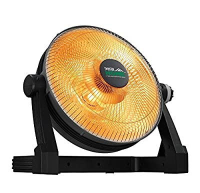 Utility Ceramic Space Heater- 800 Watt Electric Portable Home Office Garage Floor Model Furnace - Runs 120 Volts by Twin Star Home
