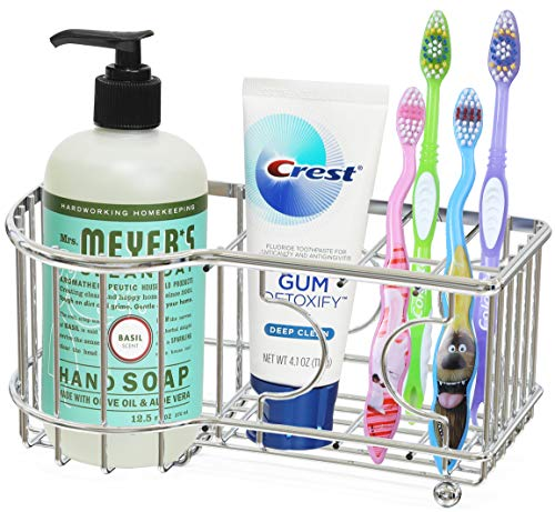 Simple Houseware Multi Functional Toothbrush Holder