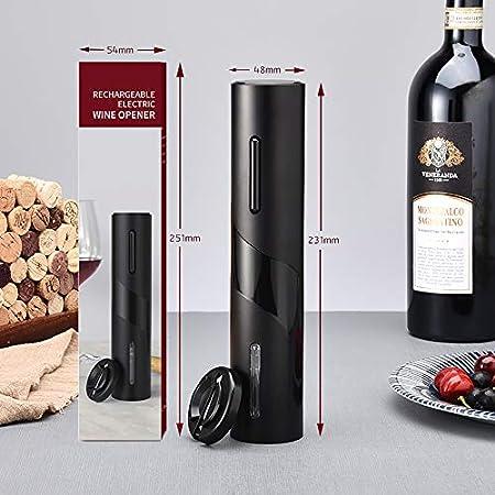 Sacacorchos eléctrico, abridor de vino electrico, sacacorchos electrico profesional ,sacacorchos de vino con cortador de papel de aluminio Automático para Hogar,Bar y como Regalo
