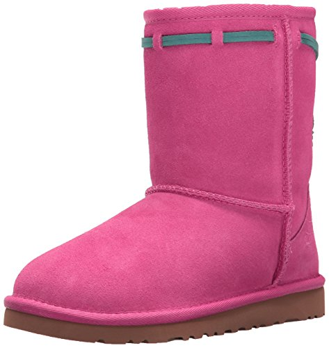 UGG Kids' K Classic Short Carranza Pull-on Boot, Pink Azalea, 4 M US Big Kid by UGG
