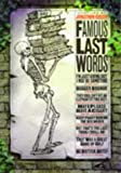 Famous Last Words, Jonathan Green, 1856262642