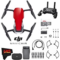 DJI Mavic Air (Flame Red) Advanced Drone Flyer Accessory Bundle