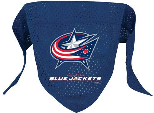 NHL Columbus Blue Jackets Pet Bandana, Team Color, Large