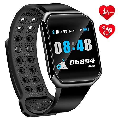 OumuEle Fitness Tracker HR- Kids Activity Tracker with Heart Rate Monitor Smart Watch with Blood Pressure Monitor Smart Bracelet with Step Calories Counter, Pedometer Watch for Women Kids Men ()