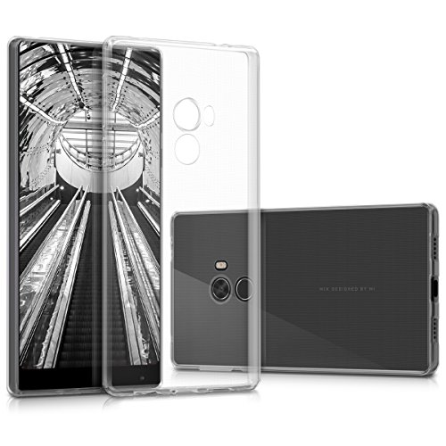 Price comparison product image kwmobile Crystal Case Cover for Xiaomi Mi Mix made of TPU Silicone - transparent clear Protection Case in transparent