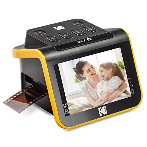 KODAK Slide N SCAN Film and Slide Scanner with Large 5″ LCD Screen, Convert Color & B&W Negatives & Slides 35mm, 126, 110 Film Negatives & Slides to High Resolution 22MP JPEG Digital Photos