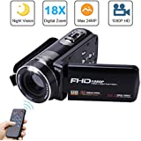 Video Camera Camcorder with IR Night Vision, Weton 3.0 inch LCD Touch Screen Digital Video