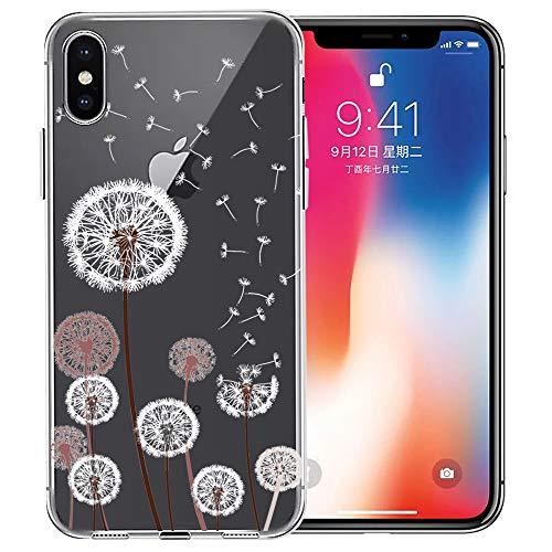 iPhone Xs Case, iPhone X Case, Doramifer Maya Series Protective Case [Anti-Slip] [Good Grip] [Ultra Thin] Aesthetic 3D Print Soft Back Cover iPhone Xs/X (Dandelion)