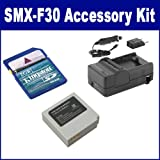 Samsung SMX-F30 Camcorder Accessory Kit includes: SDIABP85ST Battery, SDM-1527 Charger, KSD2GB Memory Card