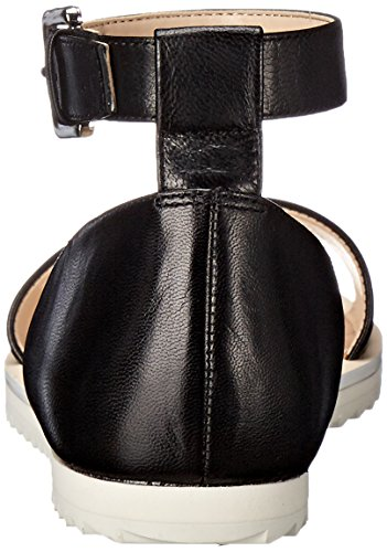 Nine West Women's Querin Leather Dress Sandal Black CLprjv