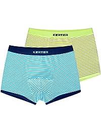 Boys Boxer Briefs Shorts Cotton Underwear 2 Pack Soft Basic Briefs 4-12 Years