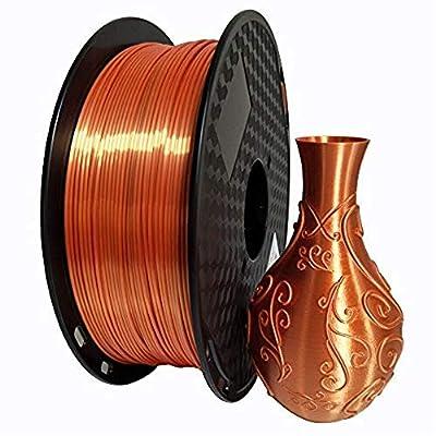 KEHUASHINA Silk PLA Filament Orange 1.75mm 3D Printer Silky Filament 1kg (2.2LBS) Printing Material