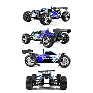 TOZO C1025 RC CAR High Speed 32MPH 4x4 Fast Race Cars 1:18 RC SCALE RTR Racing 4WD ELECTRIC POWER BUGGY W/2.4G Radio Remote control Off Road Truck Powersport Roadster Blue