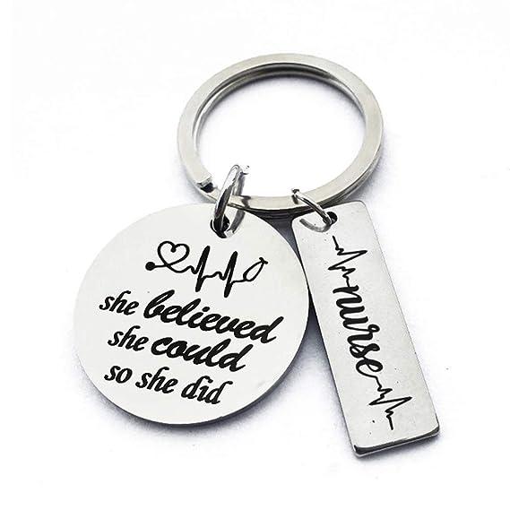 Llavero de la pulsera del encanto del regalo del día de la ...
