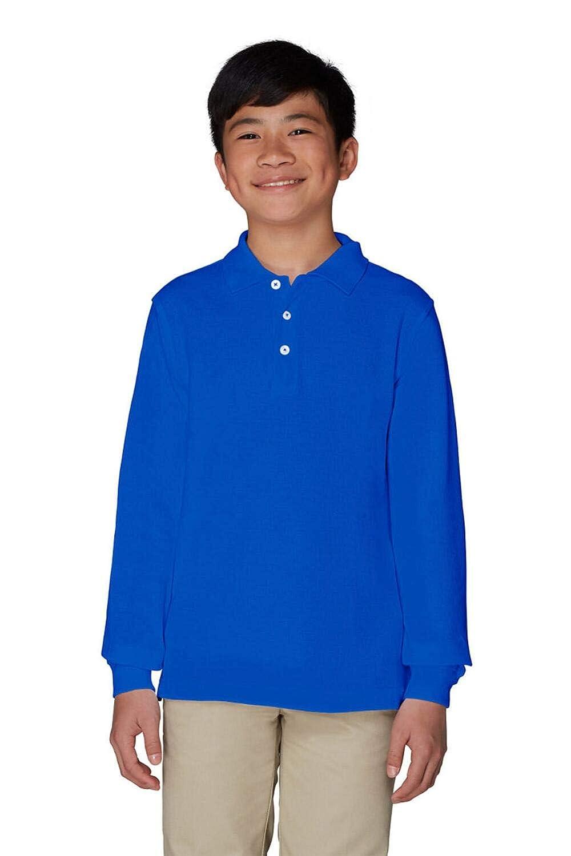 Standard /& Husky French Toast Boys Long Sleeve Pique Polo Shirt