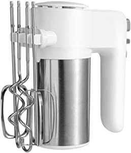 HRRH Electric Egg Beater, 300W 6 Speed Control Egg Milk Flour Drink Electric Mixer Kitchen Cooking Baking Tool