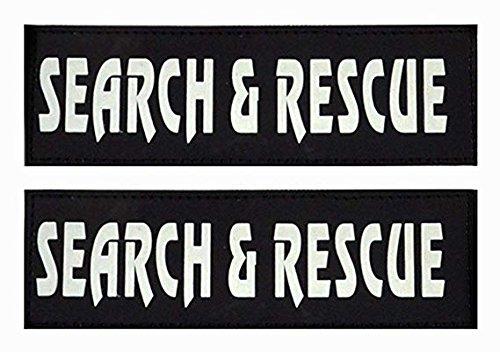(Umisun Removable Dog Velcro Patches Vests & Harness - Reflective / 2