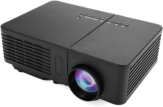 Opinión sobre Festnight Mini proyector LED Full HD 1080P Home Cinema Teatro Máquina de proyección Soporte PC Laptop Reproductor Multimedia para Negocios Educación Formación y Entretenimiento en el hogar