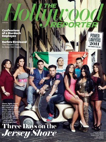 The Hollywood Reporter - The Cast of Jersey Shore - Issue - Of Cast Jersey The Shore