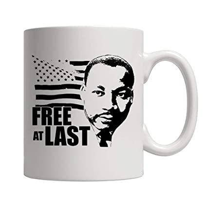 Amazoncom Free At Last Dr Martin Luther King Jr Quote Ceramic